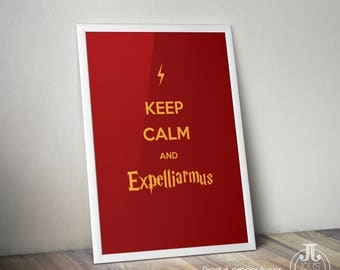 Decorative poster Harry Potter Keep Calm and Expelliarmus