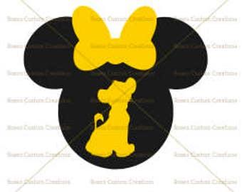 Simba Mickey Head SVG