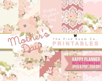 MOTHER'S DAY - PRINTABLE planner sticker for Happy Planner
