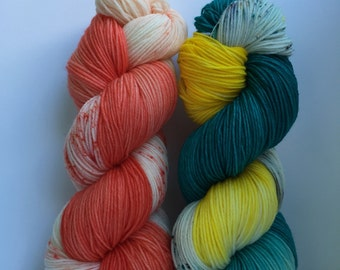Dory&Nemo hand dyed yarn 100% super soft Merino wool sport weight