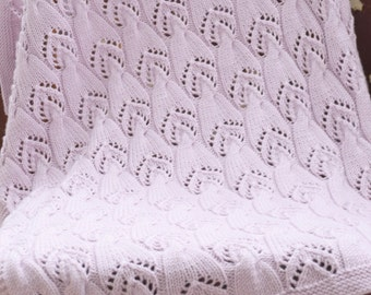 Knitted baby blanket/soft wool blanket/blanket for newborn/blanket for baby/knitted afghan/knitted throw/baby blanket/baby throw/baby afghan