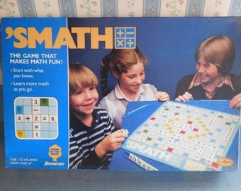 S' Math Board Game from the 1980's by Pressman