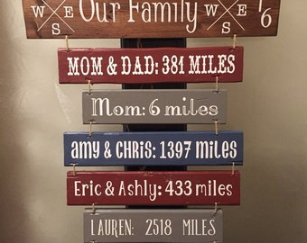 Hanging Wood Slat Sign