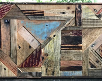 Reclaimed Wall Art - Abstract