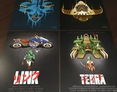 "Retrogaming Art Prints 8"" x 10"" - Final Fantasy VI / Legend of Zelda / Shovel Knight / Chrono Trigger / gamer geek pop art"