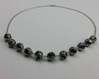 Black Globe Necklace