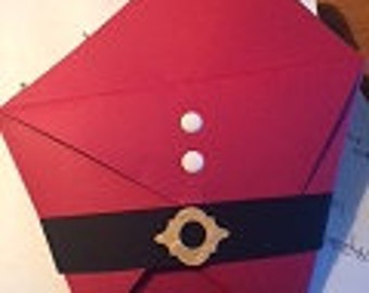 Santa Large Treat and Gift Card Holder