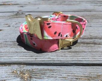 Watermelon Dog Collar, Dog Collars, Summer Dog Collar, Beach Dog Collar, Pink Dog Collar, Dog Collar for girls, Dog Collar Female, Pink Dog