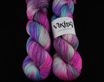 Hand Dyed Yarn - Hand Dyed Sock Yarn - 100% Superwash Merino Wool in 'Mantis'