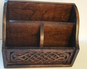 Letter box, wood
