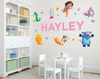 Life Size Dora The Explorer™ Personalized Name Wall Decals For Kids Bedroom  Walls, Nursery Part 97