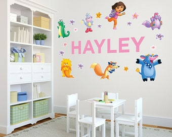 Life Size Dora The Explorer™ Personalized Name Wall Decals For Kids Bedroom  Walls, Nursery