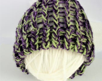 SUMMER SALE, purple baby hat, knitted baby hat, baby boy hat, baby girl hat, baby shower gift, wool baby hat, newborn knit hat