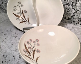 Syracuse China Carefree True China Windswept Serving Bowls