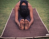 Wild Hemp Yoga Mat. 100% Handmade, Eco Friendly, Natural and Biodegradable. Naturally Rubber & Latex Free