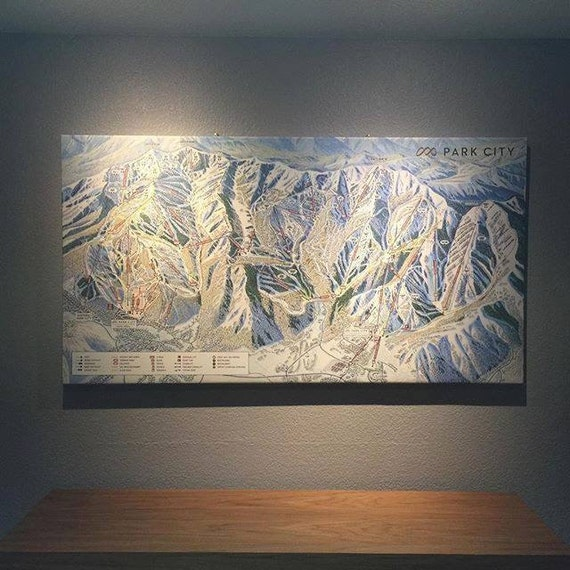 Park City Mountain Resort Gallery Wrapped Canvas Map