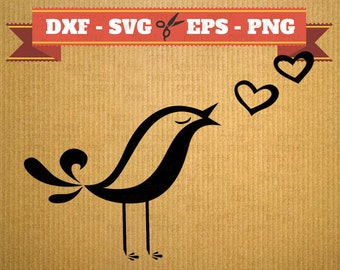 HEART BIRD Valentine svg files for shirts, Heart Svg, Png, Dfx, Eps, Bird Svg, Heart love Svg, Silhoutte Studio Cricut, vector files