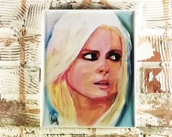 Liv Moore - iZombie - Original Acrylic Painting by me - Print