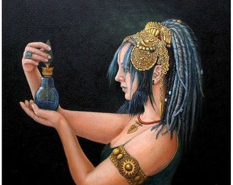 Immortality - Egyptian Art - Arabian Art - Handmade Oil Painting On Canvas