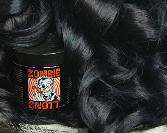"Zombie Snott ""Rave-N-Black"" BRAND NEW long-lasting hair color to DYE for! - 4oz Jar"