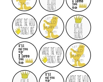 Edible Where the Wild Things Are Cupcake Cookie Toppers