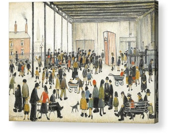 """LS Lowry """"Punch and Judy"""" Canvas Box Art A4, A3, A2, A1 ++"""