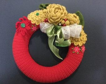 Christmas wreath, door wreath, Xmas wreath,door decoration, Christmas wreath, floral wreath,handmade wreath, door decor
