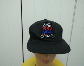 Rare Vintage TRAILBLAZER The 1992 NBA FINALS Patched Cap Hat Free size fit all