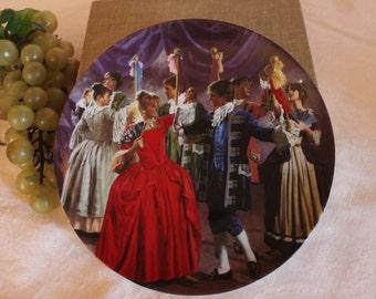 """The Twelve Dancing Princesses German 8"""" Plate - """"Die zertanzten Schuhe"""", 1986"""