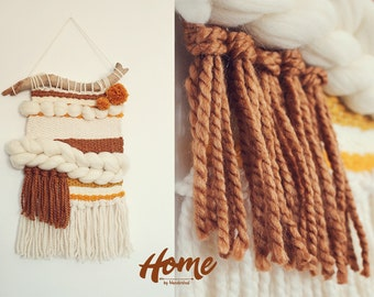 Woven Wall Hanging / Weaving / Tapestry / Hygge / Wall art / Loom weave / Textile weaving / Tissage /Home decor / Custom orders welcome