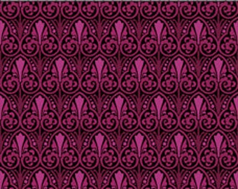 In The Beginning - Deco Elegance Fabric -  Brown/Green and Magenta - By Jason Yenter