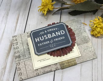 Father's Day Gift Card Holder, Husband gift, Fancy Handmade Gift Card Holder, Gift Card Envelope, Gift Card Holder, Gift for Father