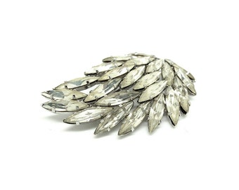 Vintage 1940s Brooch | Wing Brooch | 1940s Brooch | Vintage Brooch | Vintage Pin | 1940s Pin | Diamante Brooch | Gifts for Her