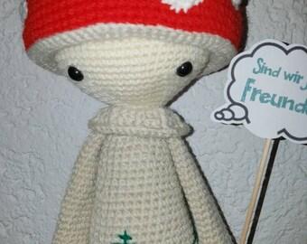 Lalylala, mushroom Paul, 40 cm, crochet doll