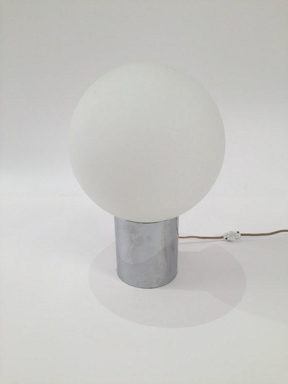 Midcentury chrome desk lamp globe