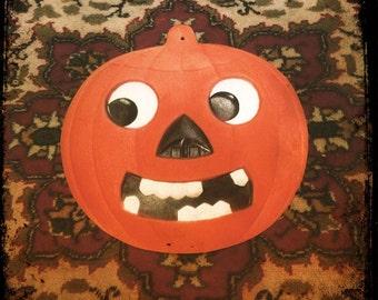 Vintage Halloween German Jack-O-Lantern Embossed Diecut 1920's