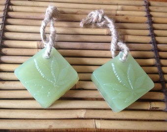 Soap on a rope made with Hemp oil   (also know as Dope on a rope), hemp fragrance