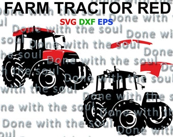 Red tractor svg - Farm tractor svg - Car vector - Car Digital - Farm svg - Car cutting - Car silhouette - Car svg - Car Cut - Tractor Cut