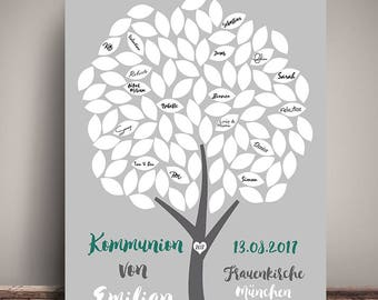 Leave a personalized POSTER, communion, DIN A3
