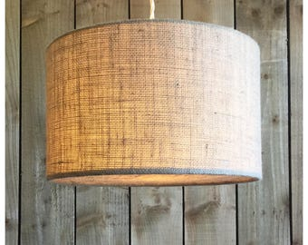 Natural  Hessian Light Shade & Hessian Diffuser 25cm 30cm 35cm 40cm 45cm 50cm 60cm 70cm FREE UK SHIPPING