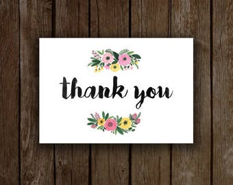 Garden Flowers - 20 Thank You Card Set