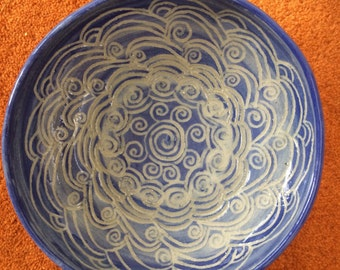 Handmade pottery,ceramics,blue bowl,serving bowl,dip bowl,functional pottery,appetizer bowl,stoneware,bowls,EtienneOriginals,dip bowl,oven
