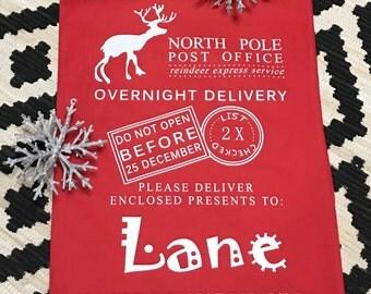 Santa Sack, Personalized Santa Sack