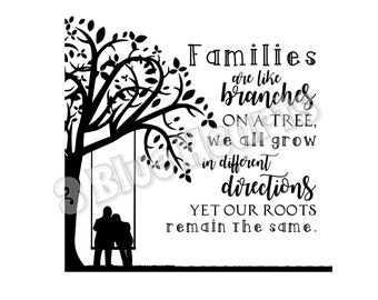 Families are like Branches svg dxf pdf jpg