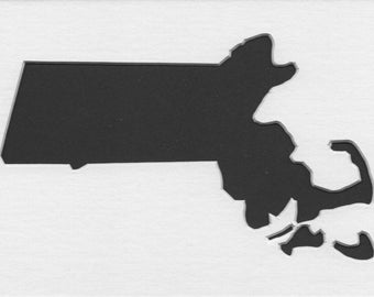 Pack of 3 Massachussetts State Stencils,Made from 4 Ply Mat Board 16x20, 11x14 and 8x10