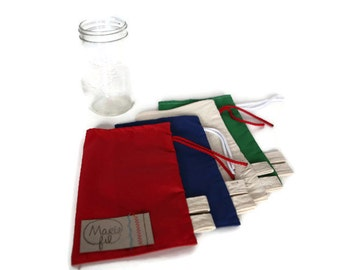 Loose cotton bags 1 L for dry food - reusable bags - 1 bag