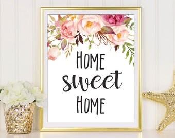 Home Sweet Home Wall Art home sweet home print entrance wall art welcome print decor