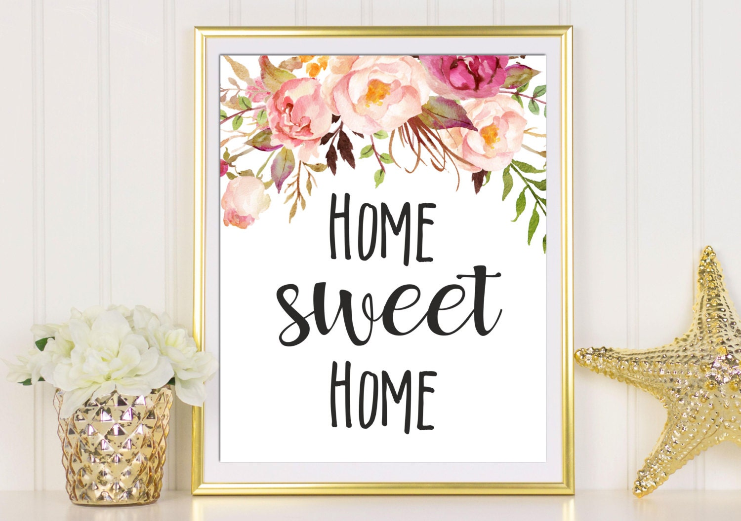 Home sweet home print printable wall art guest room decor Home decor wall decor australia