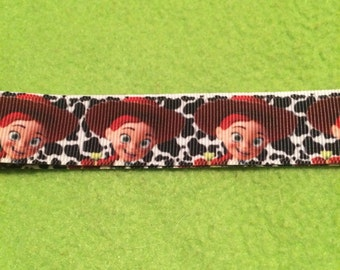 "Jessie the cowgirl 7/8"" grosgrain ribbon"