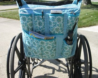 wheelchair bag - Teal/light